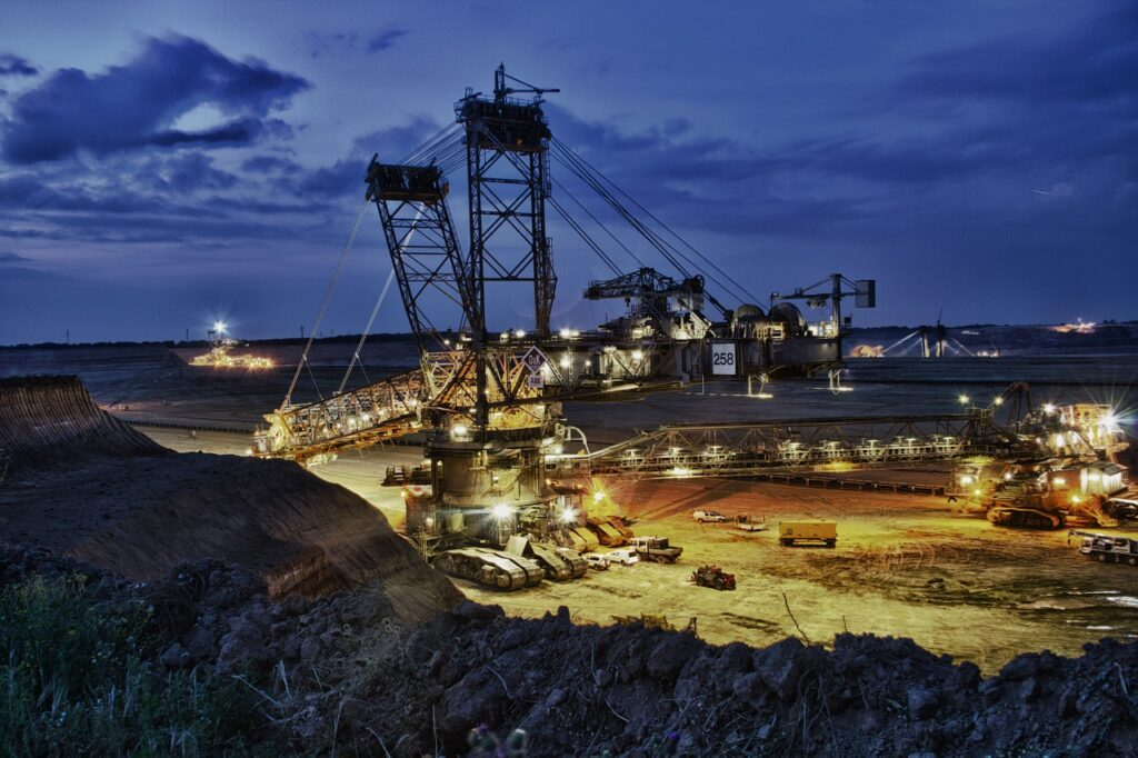 Australia mining company conducting operations at night