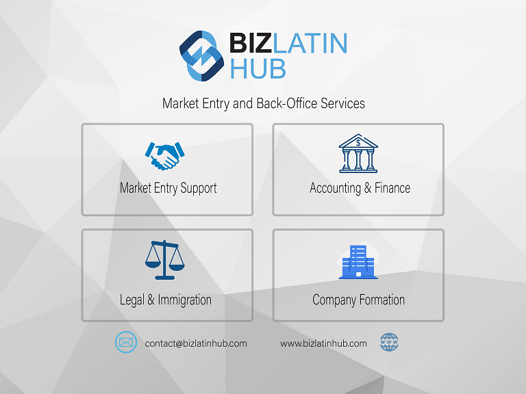 Infographic: Biz Latin Hub legal and accounting services in Bolivia's tax system for business