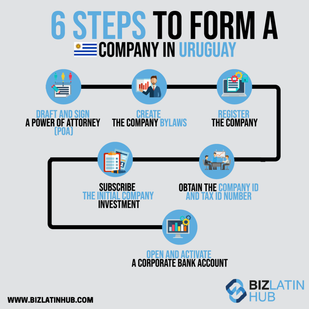 Infographic: 6 Steps to Form a Company in Uruguay