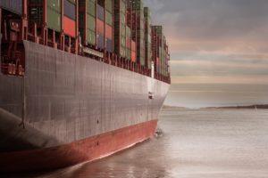 Container cheio de exportações do brasil