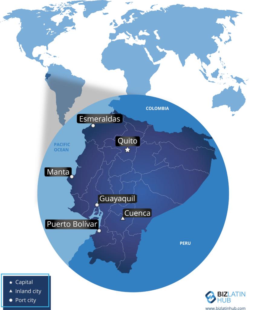 A map of the South American nation a good place to establish an SAS in Ecuador