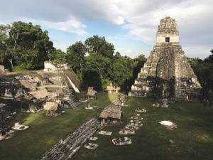 A picture of Aztec temple.