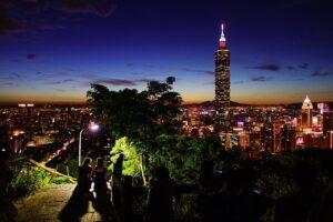 Taiwan capital skyline