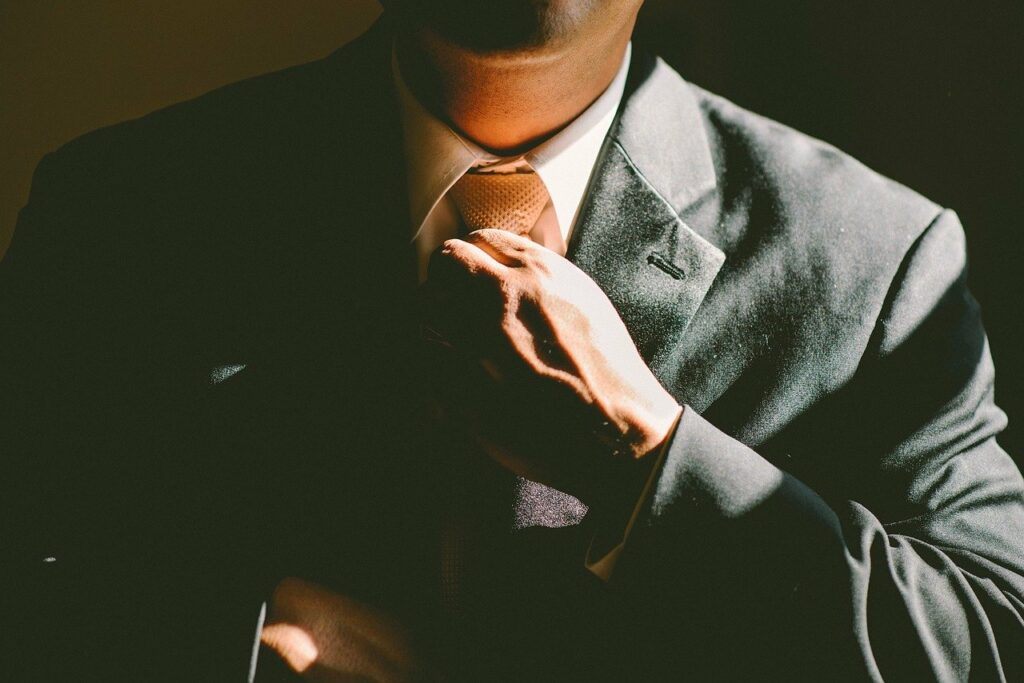Man in business suit and tie