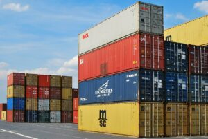 A container that represents the import and export activities of the largest industries in Guatemala