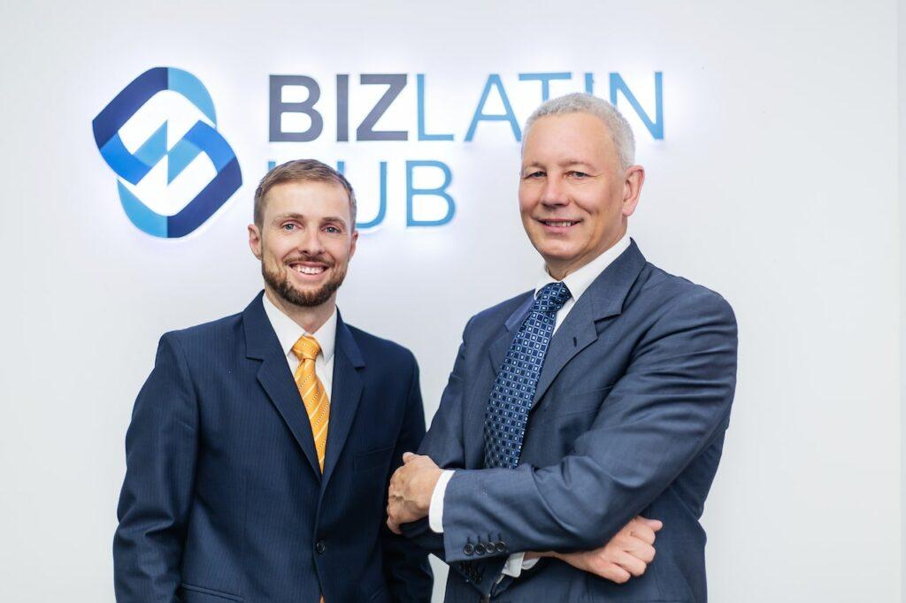 Biz Latin Hub Managing Director Craig Dempsey and Chairman David Wright
