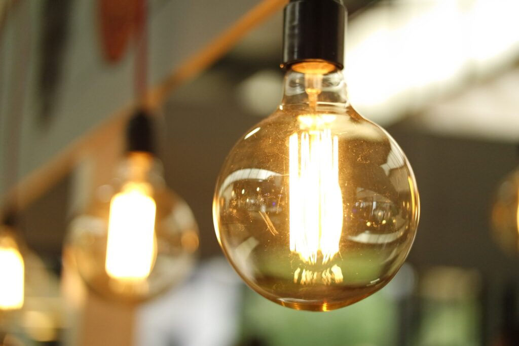 light bulb, depicting mining and energy innovation.
