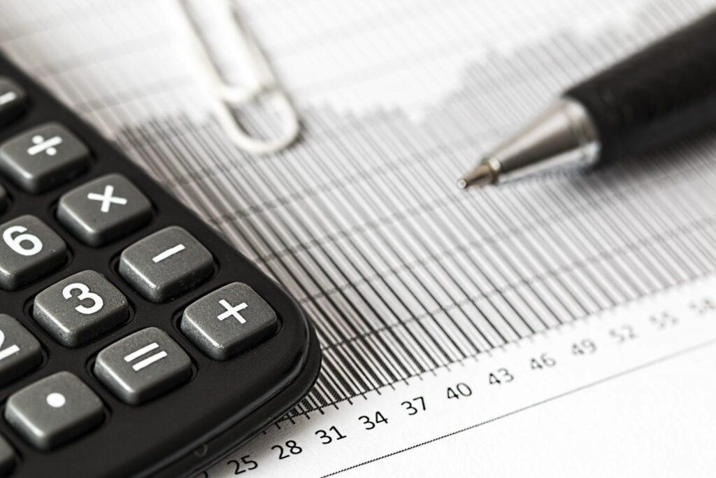 Calculator depicting international taxation