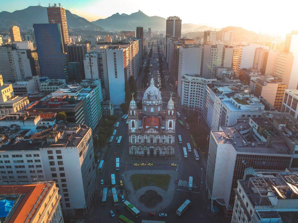 Vista aérea de Sao Paulo, donde se establecen la mayoría de las startups de Brasil.