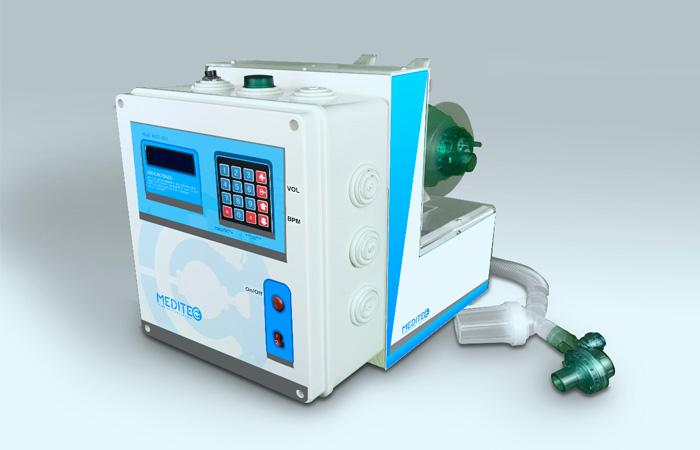 El respirador Meditec desarrollado por la empresa tecnológica boliviana Creotec