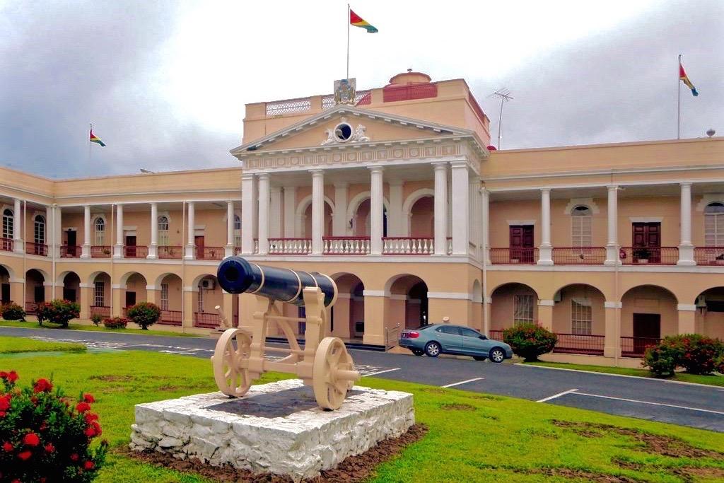Parlamento de Guyana ubicado en Georgetown, la capital del país
