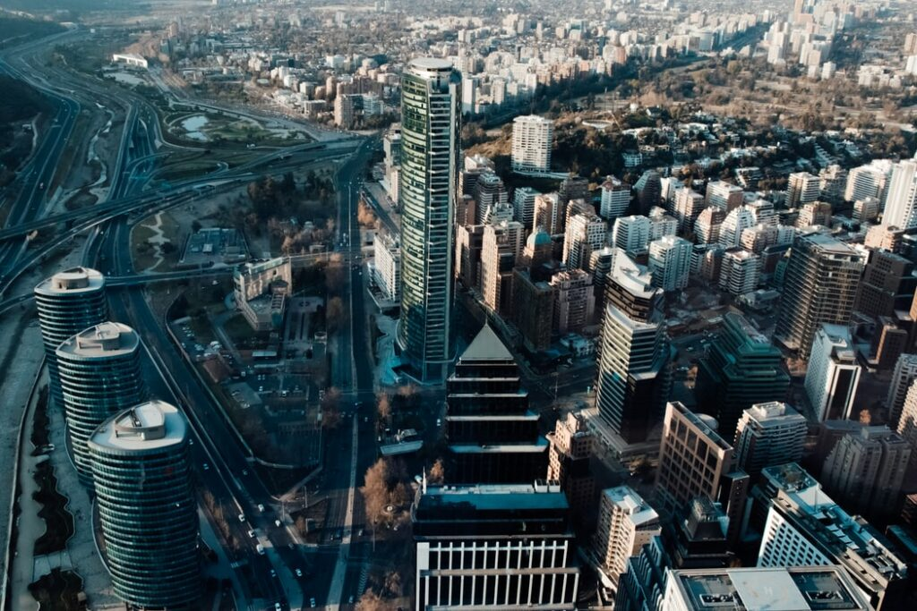 A photograph of Santiago, the capital of Chile, where you may be interested in starting a business.