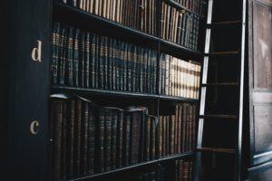 Labor legislation law books in a shelf
