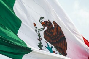 A photo of the Mexican flag - main image for PTU in Mexico article