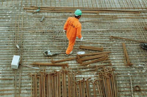 A photo of a construction worker in Sao Paulo. The construction industry has contributed significantly to the growth in investor confidence in Brazil.