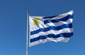 The flag of Uruguay, where you can streamline your business by outsourcing back office services