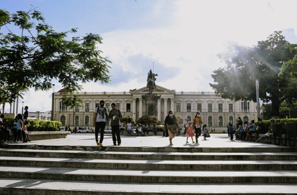 अल सल्वाडोर की राजधानी सैन साल्वाडोर में नेशनल पैलेस की एक तस्वीर, जहां क्रिप्टोक्विरेंसी बिटकॉइन कानूनी निविदा बन गया है।