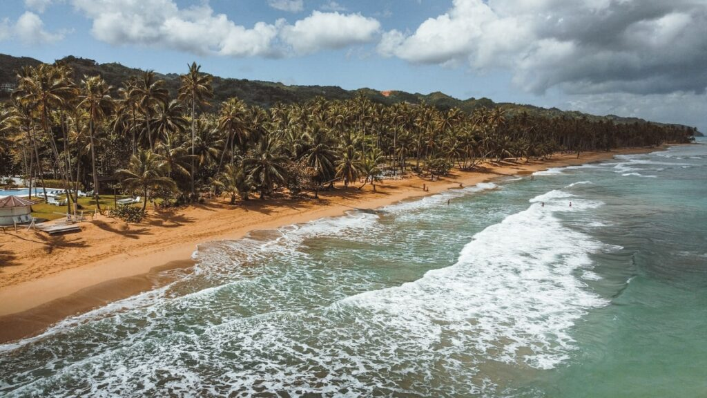A photo of a beach in the Dominican Republic, one of the three countries that make up the Caribbean Triangle
