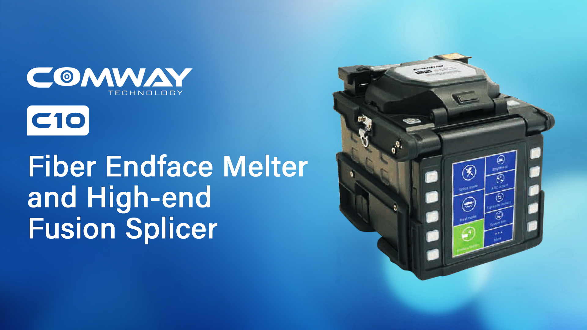 Comway C10 Fiber Endface Melter and High-end Splicer