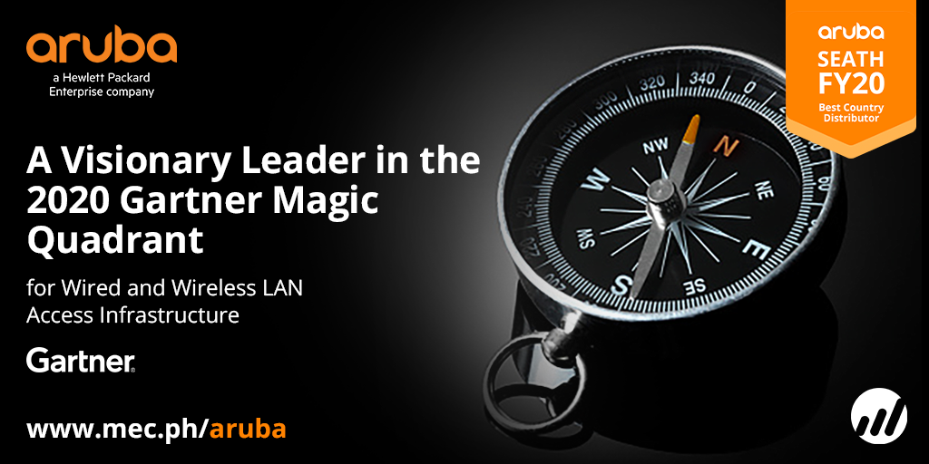 Aruba Named As Visionary in Gartner's Wired and Wireless Magic Quadrant