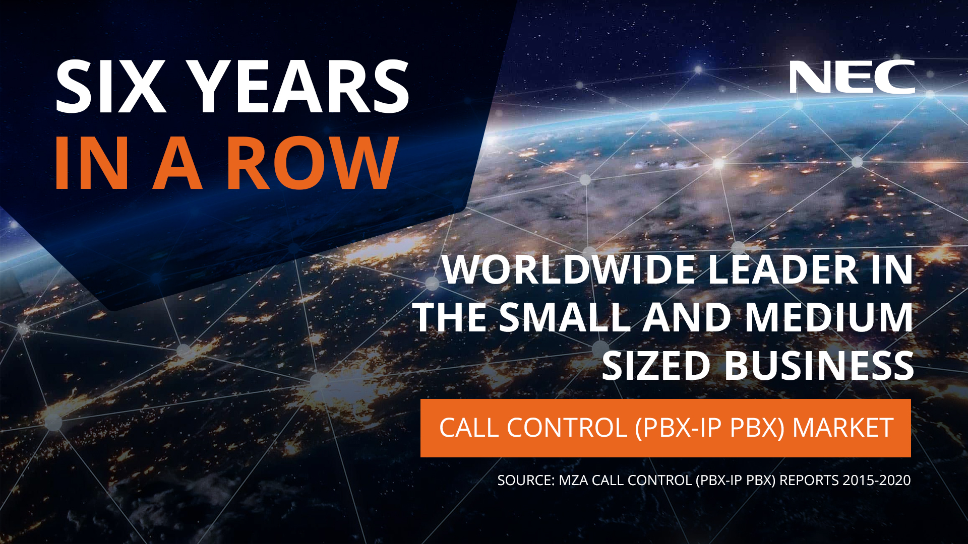 NEC Recognized As No.1 Worldwide Leader In The SMB Call Control Market