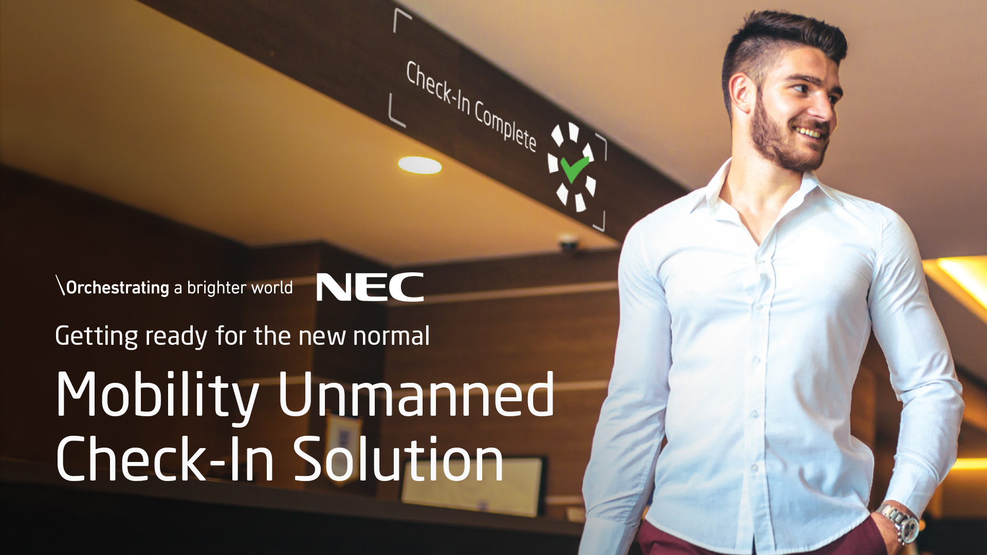 NEC Mobility Unmanned Check-In Solution
