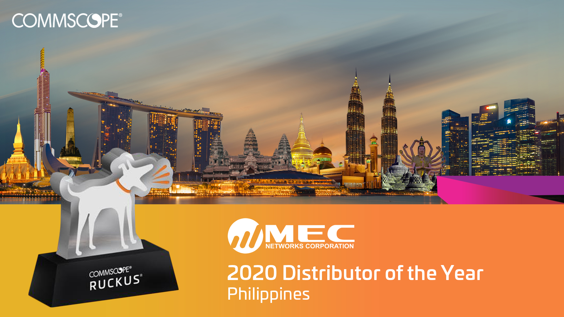 MEC Named as CommScope RUCKUS' 2020 Distributor of the Year
