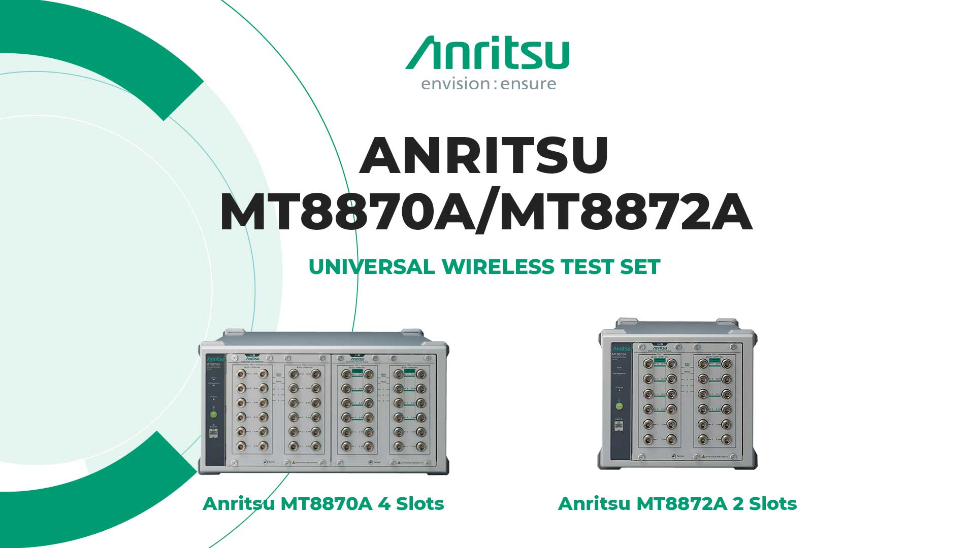 Anritsu MT8870A and MT8872A Universal Wireless Test Set