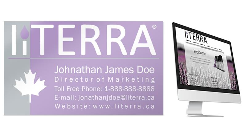 liTERRA business card & website