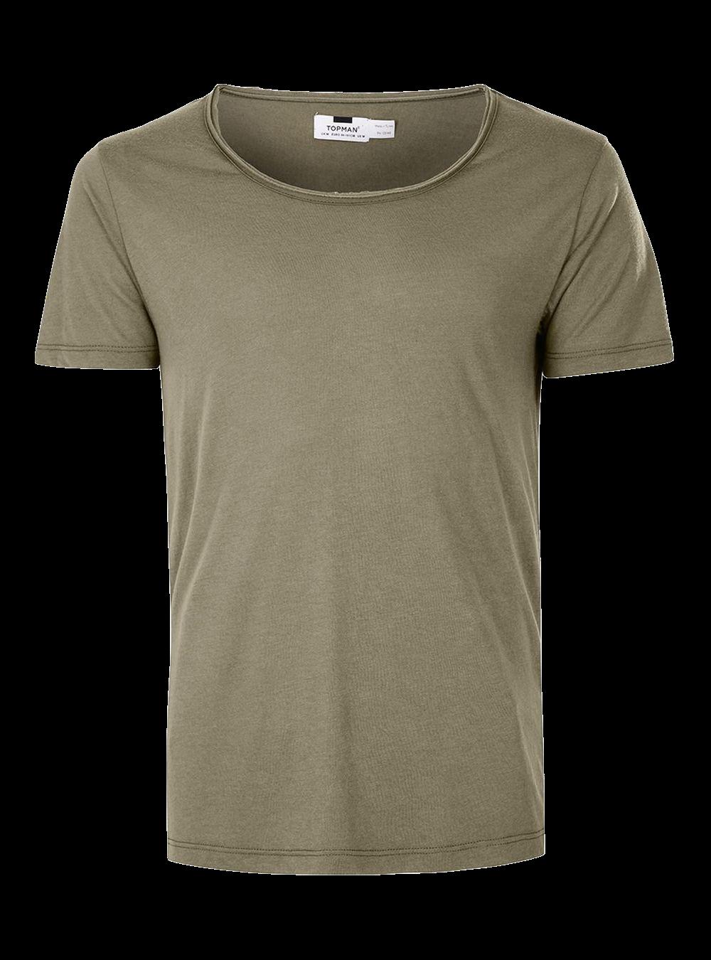 topman khaki scoop neck tshirt