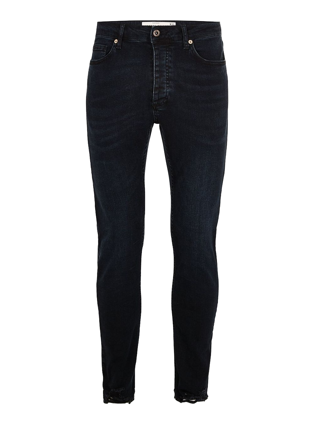 Washed Black Raw Hem Stretch Skinny Jeans