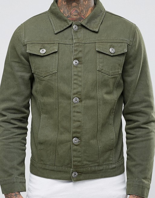 khaki denim jacket
