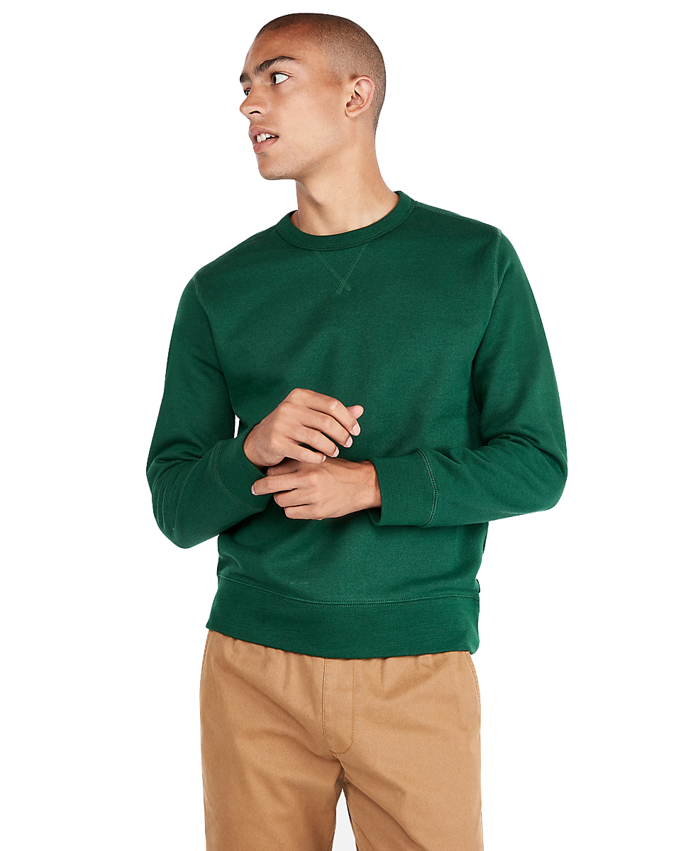 express Solid Fleece Sweatshirt