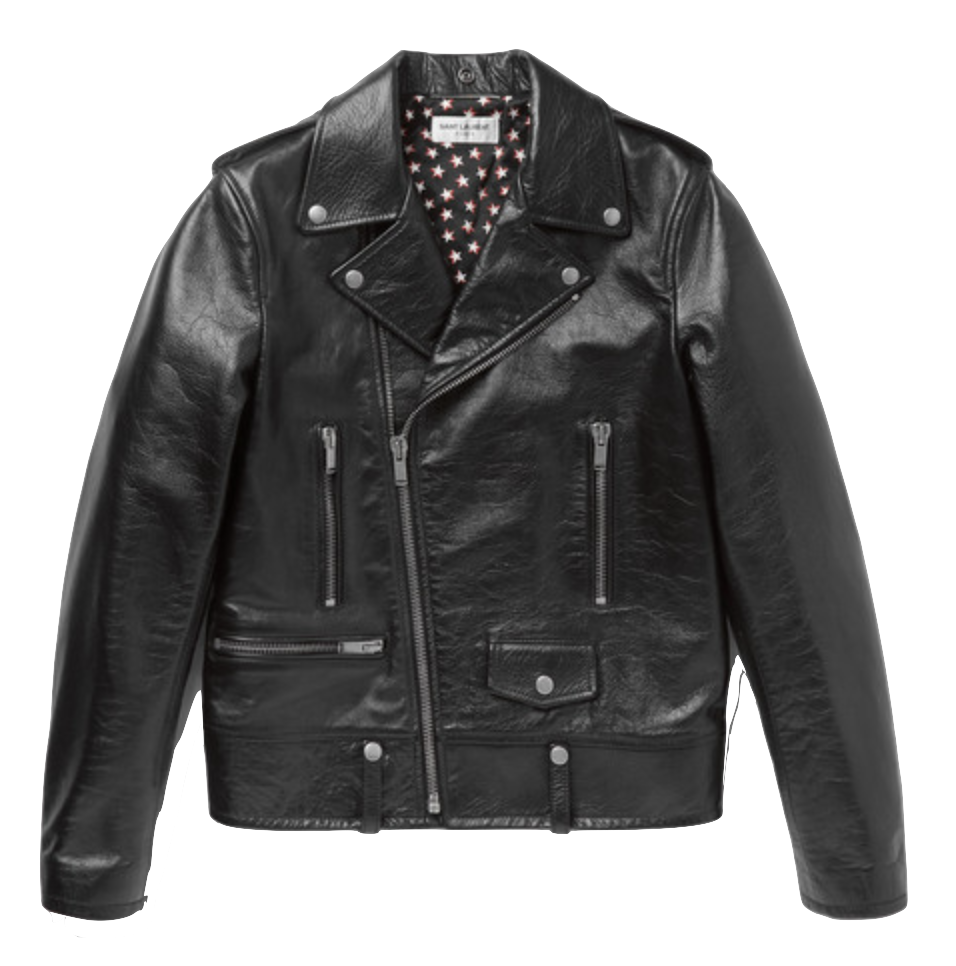 Saint Laurent - Full-Grain Leather Biker Jacket