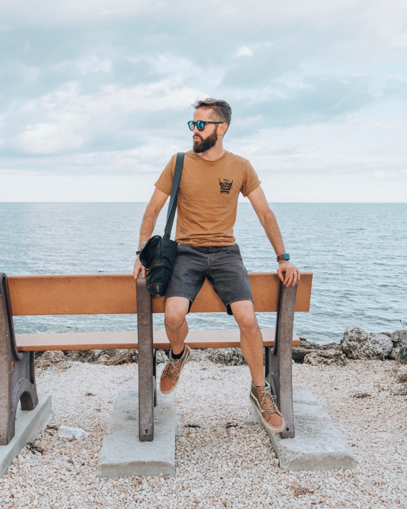 Michael Checkers Streetwear Blogger in Biscayne National Park Miami