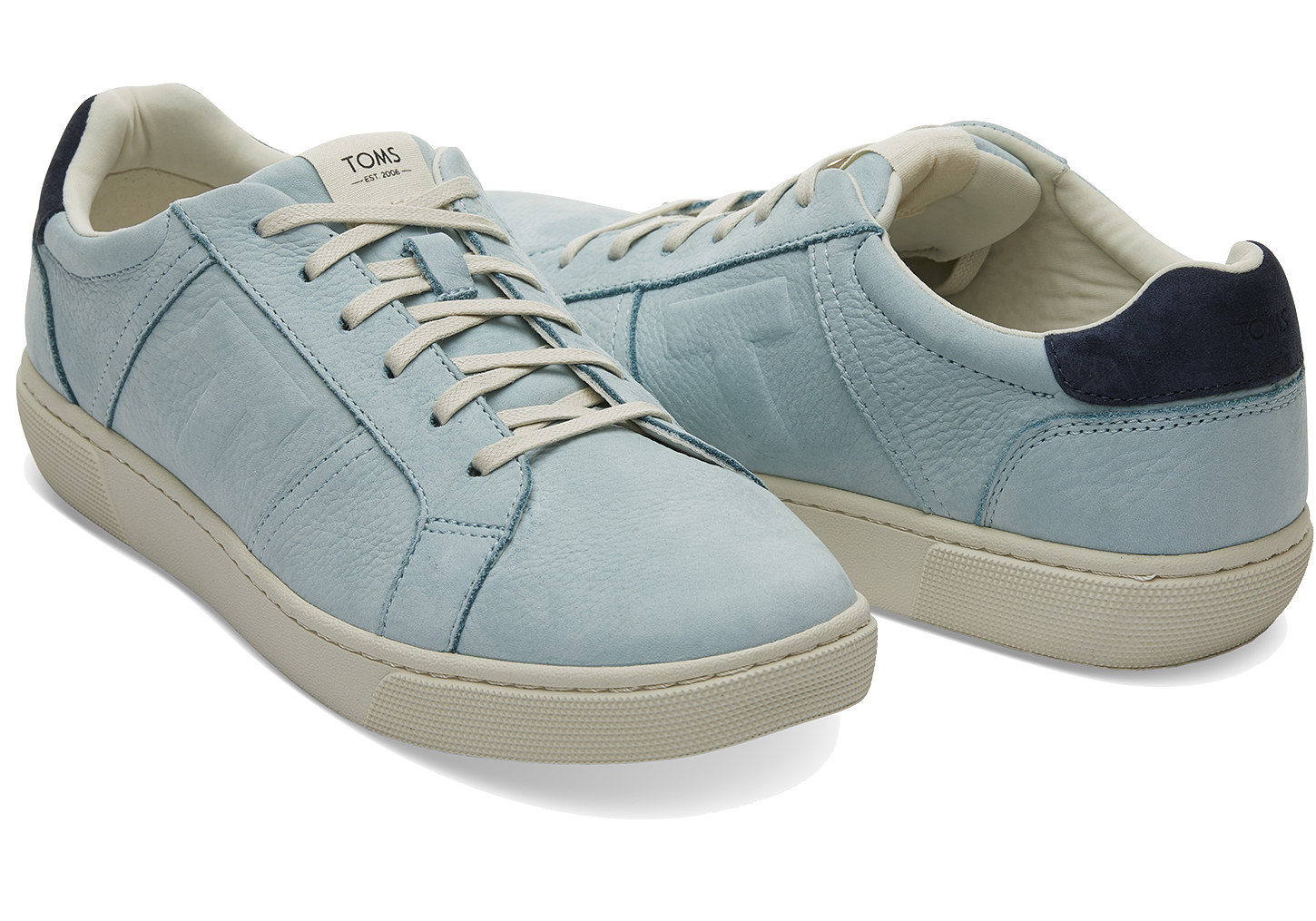Toms Pastel Turquoise Nubuck Leather Mens Leandro Sneakers