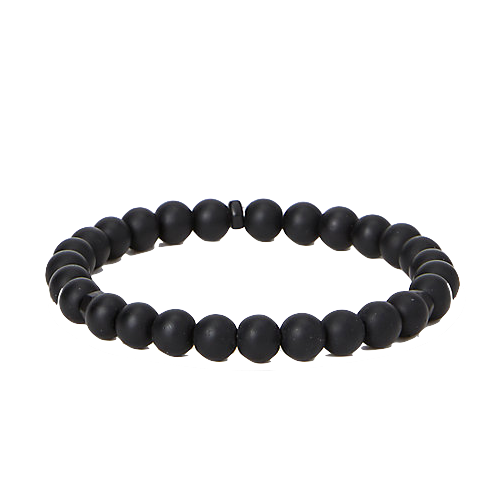 Express Matte Black Beaded Bracelet