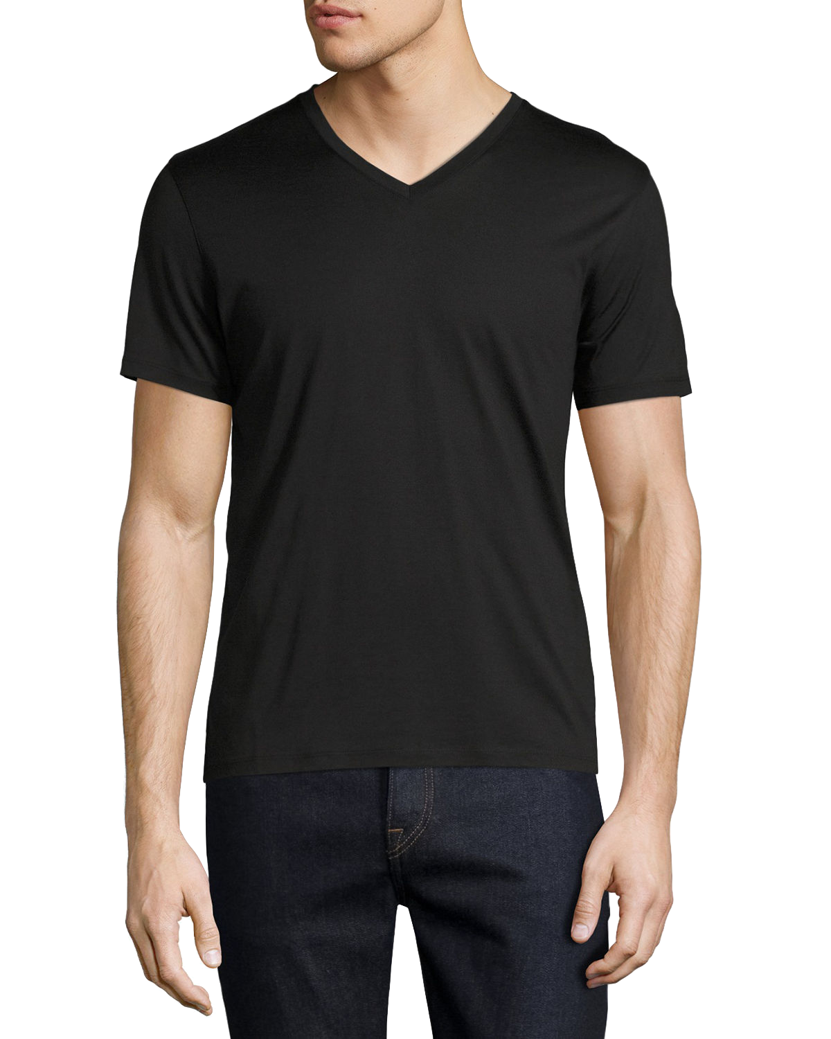 theory mens black vneck
