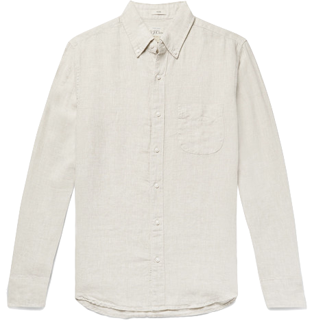 j crew Slim-Fit Button-Down Collar Linen Shirt