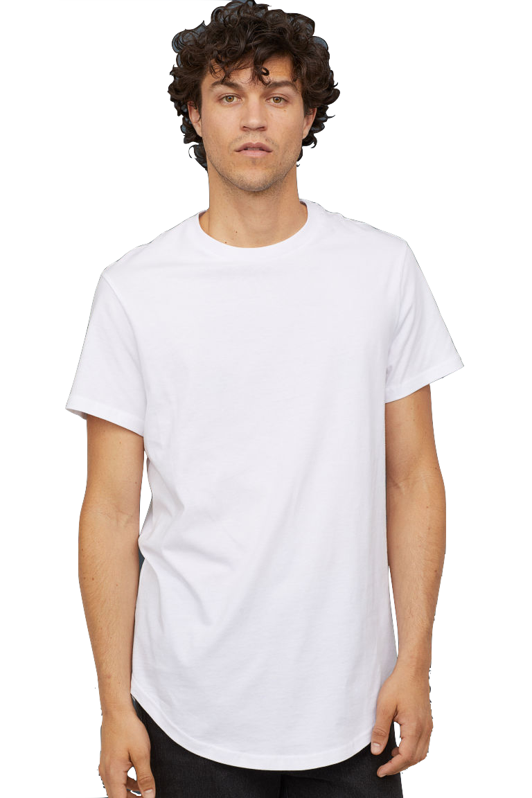 HM Long Fit T-shirt white