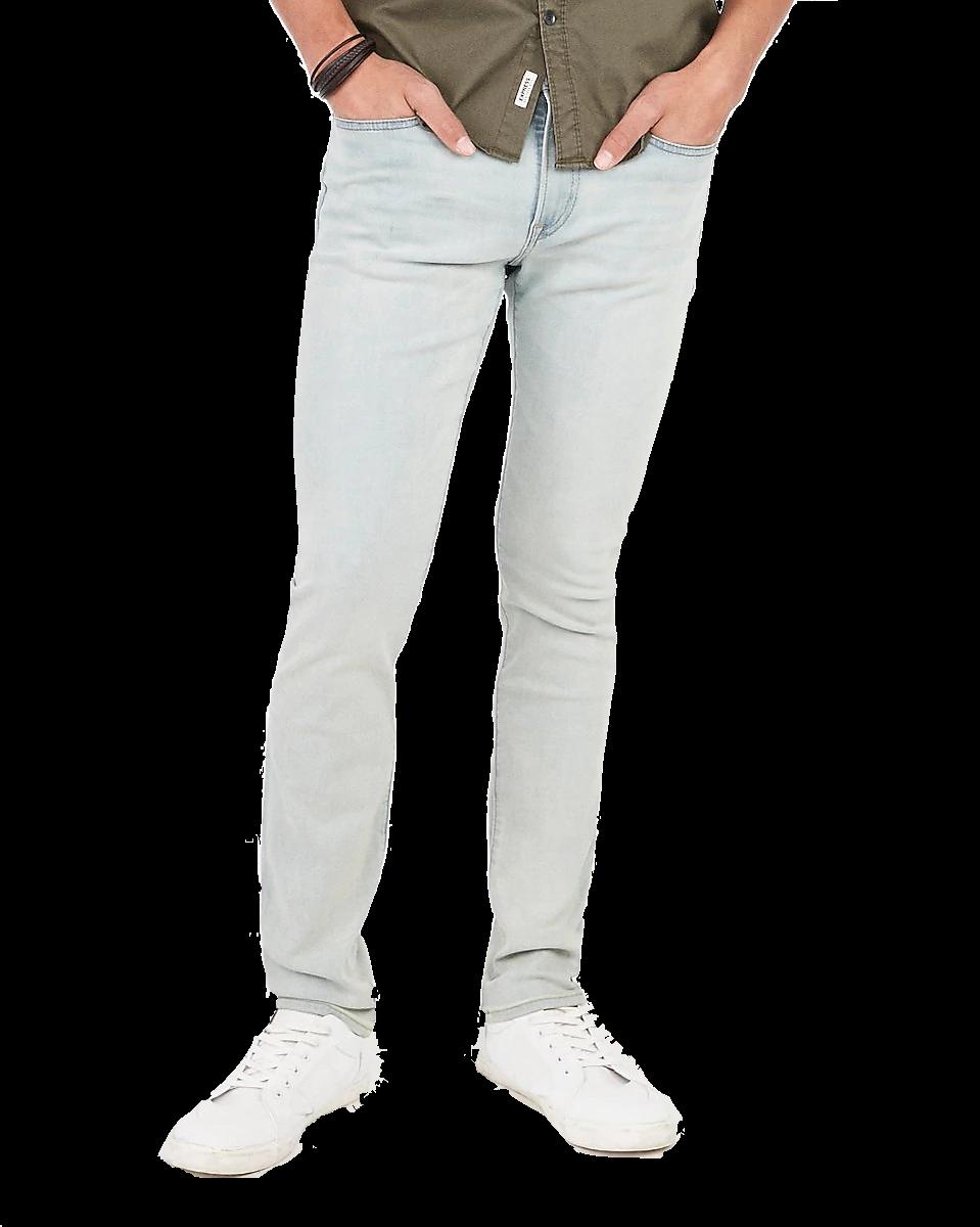 Slim Light Wash Hyper Stretch Jeans Express Mens