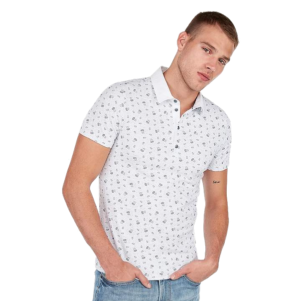 Express Floral Moisture-Wicking Performance Polo