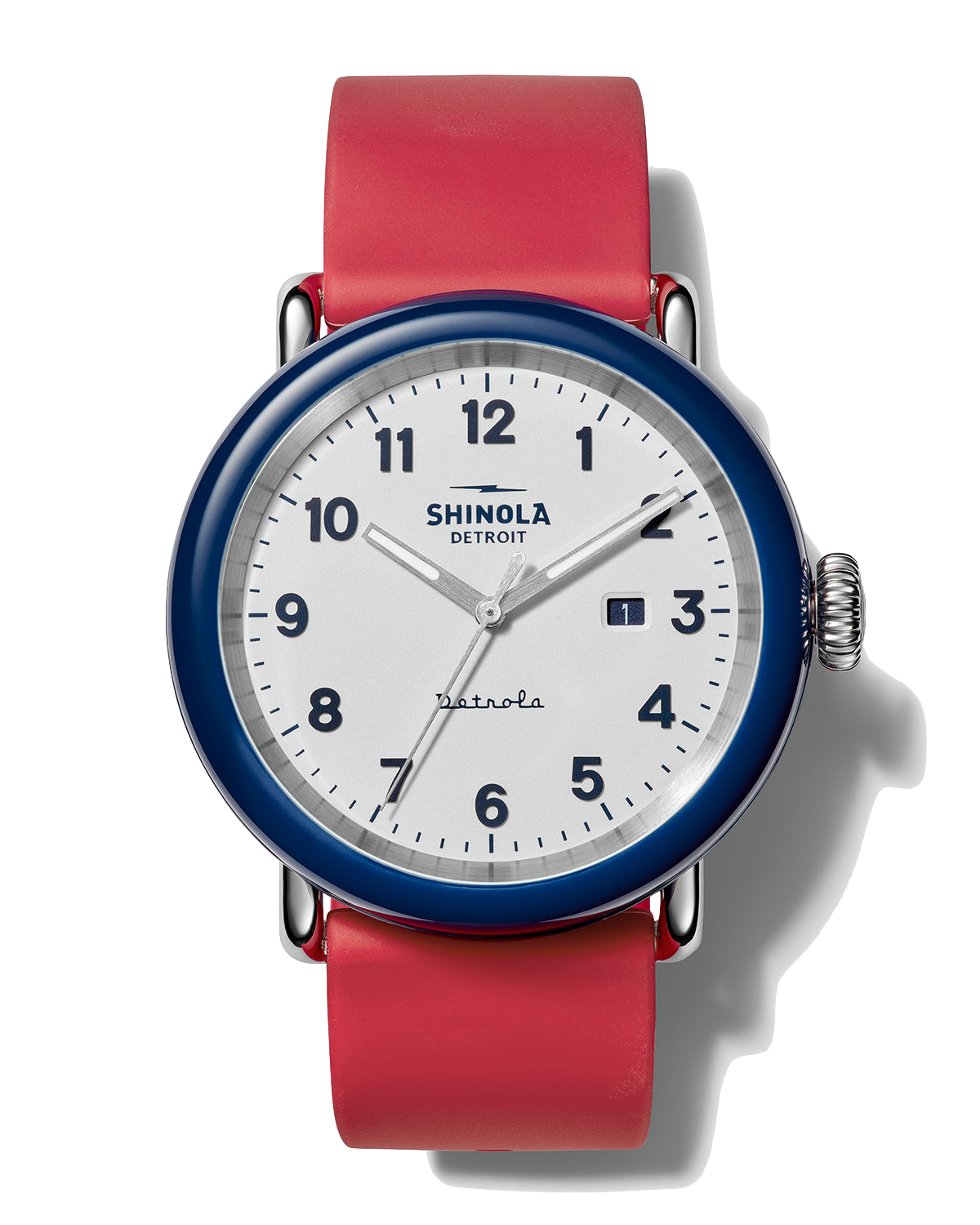 Shinola Men's Detrola The Ace 43mm Silicone Watch