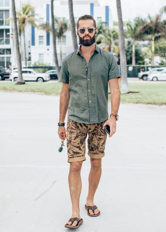 Michael Checkers street style photo in Miami Beach