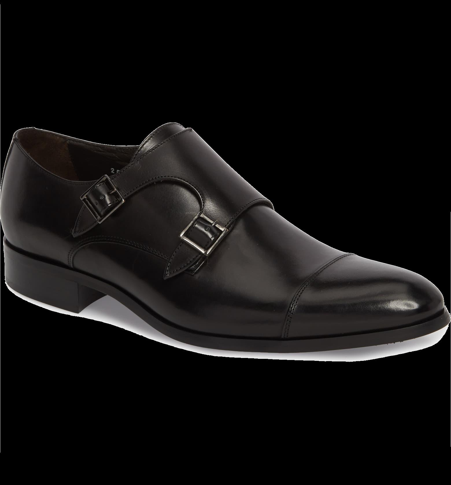Bankston Cap Toe Double Strap Monk Shoe