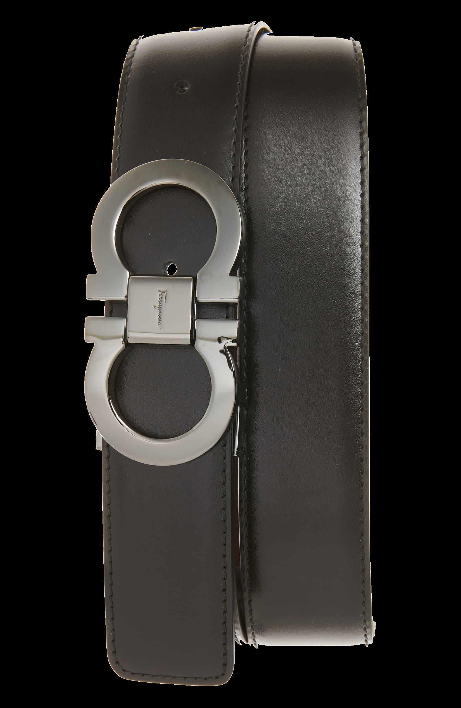 Reversible Leather Belt SALVATORE FERRAGAMO black