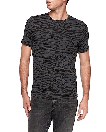 Express tiger print moisture-wicking performance t-shirt