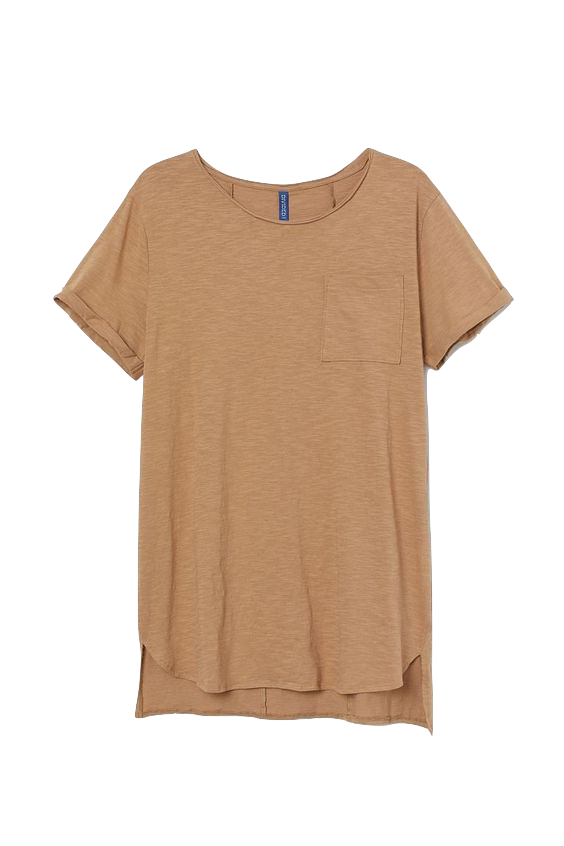 Long, relaxed-fit T-shirt in cotton slub jersey t-shirt H&M