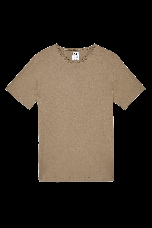zara deluxe tan t-shirt