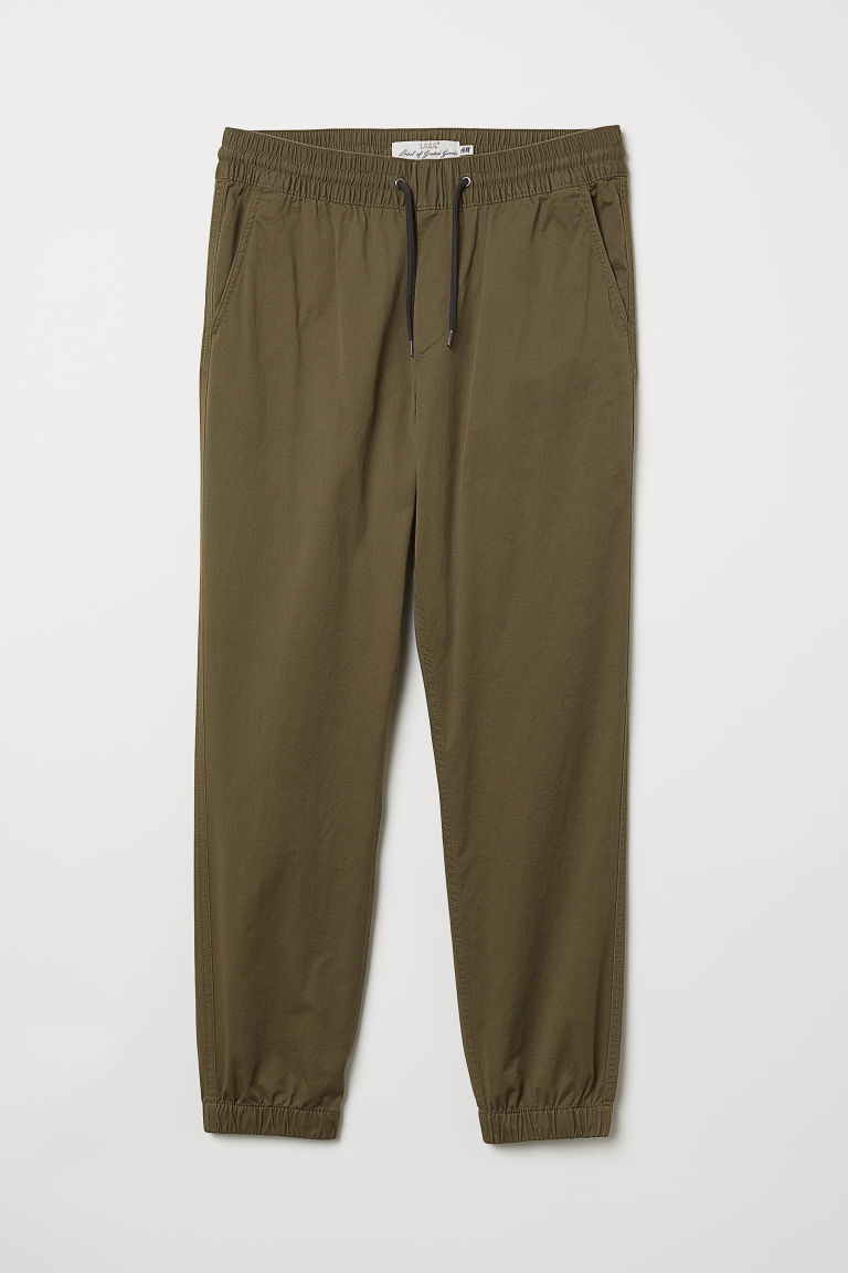 Brushed Cotton Twill Joggers
